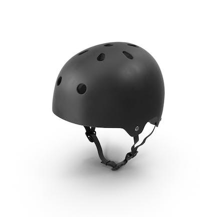 Schwarzer Skateboard-Helm