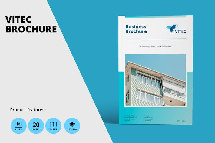 Thumbnail for Real Estate A4 Brochure Template