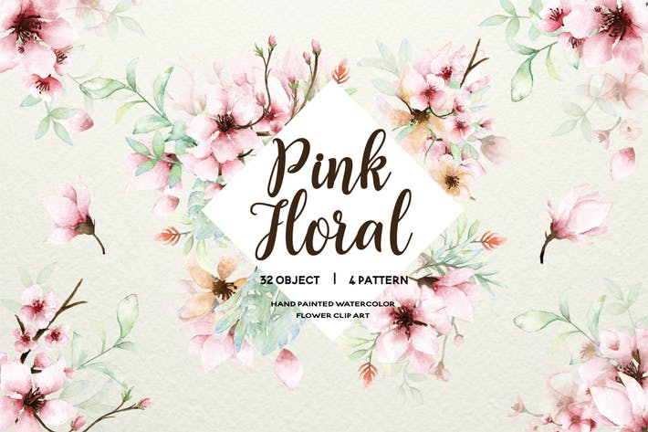 Thumbnail for Pink Floral - Sakura Watercolor Set