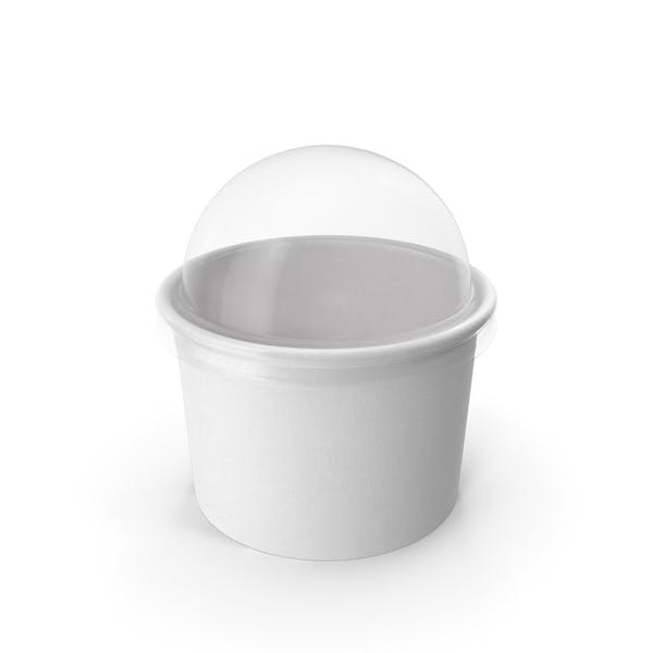 Thumbnail for Paper Food Cup with Clear Lid for Dessert 8 Oz 200 ml