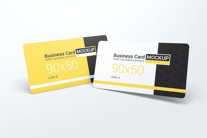 Thumbnail for Business Card With Rounded Corners Mockups