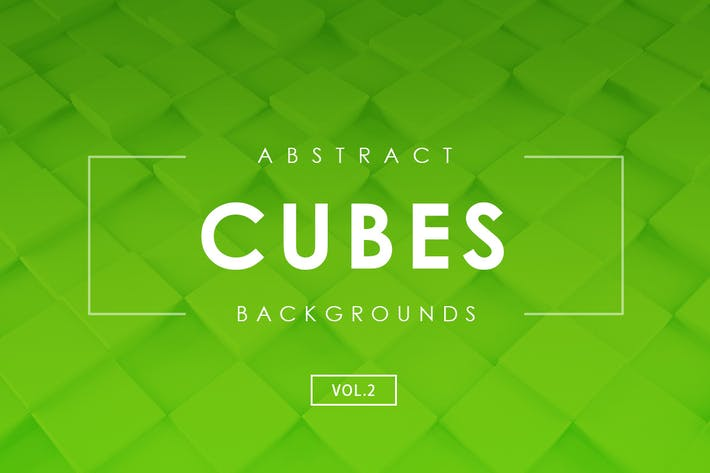 Cubes Abstract Backgrounds Vol.2