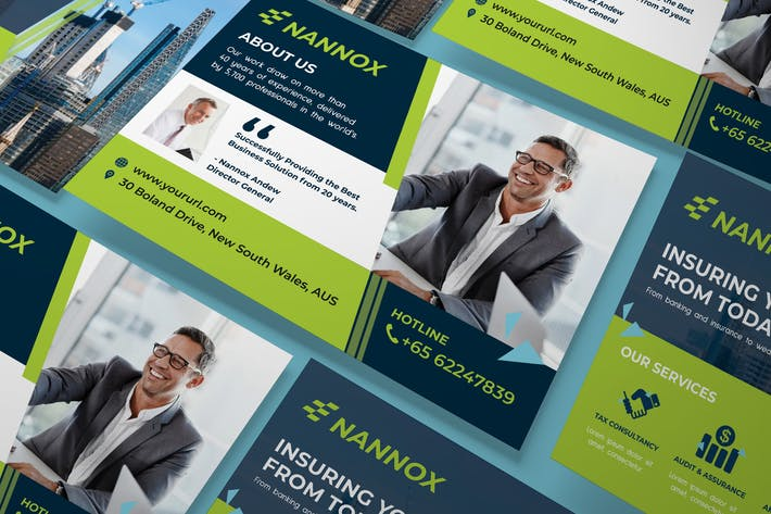 Thumbnail for Affaires, entreprise A5 dépliant