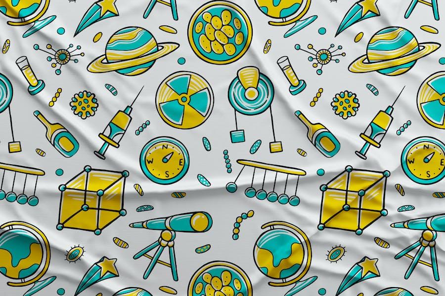 Science Seamless Pattern #02