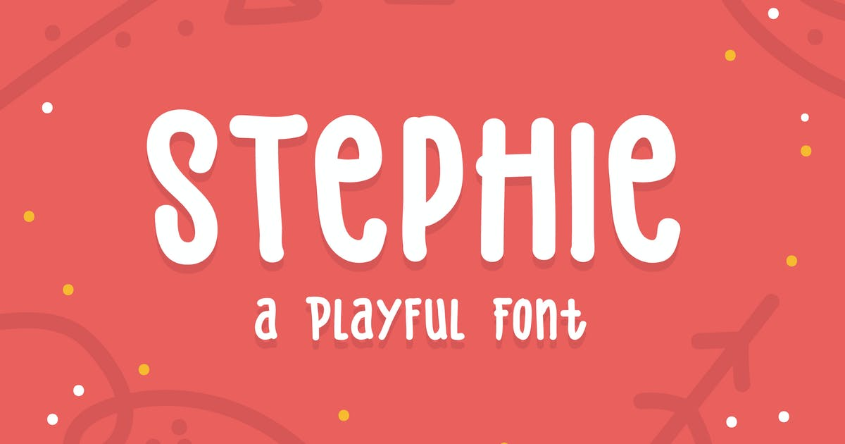 Download Stephie Typeface - Playful Font by IanMikraz