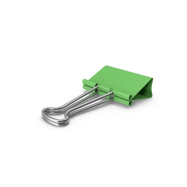 Binder Clip Green