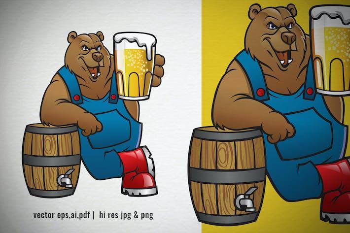 cartoon of brown bear offering bear