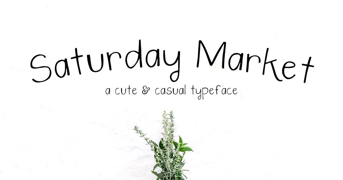 Download Saturday Market Font by thinkmake