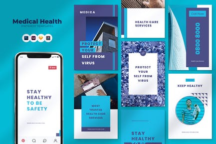 Medical Pinterest Template