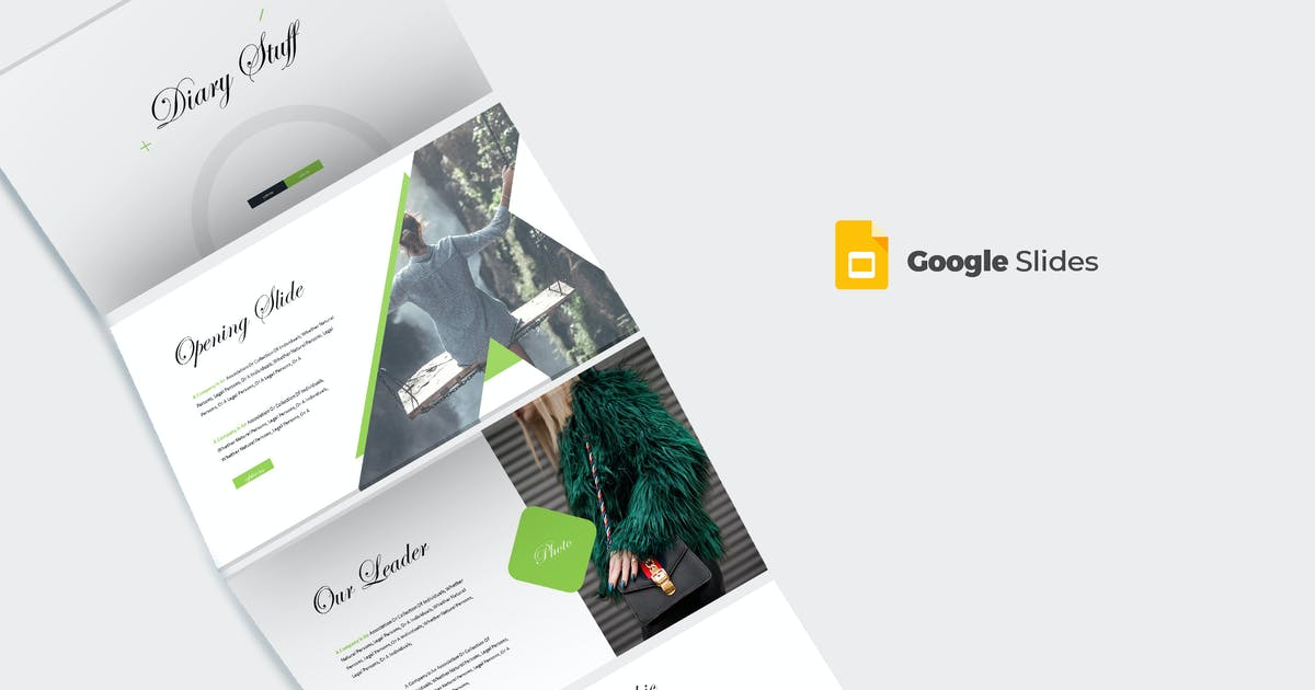 Download Diary - Google Slides Template by aqrstudio