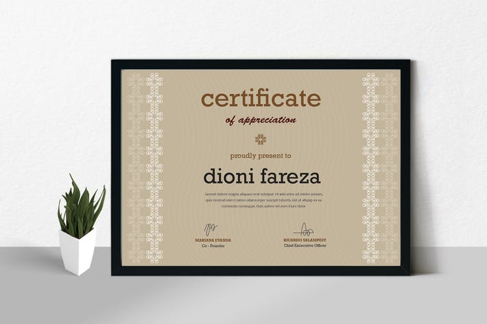 Thumbnail for Certificate / Diploma Template
