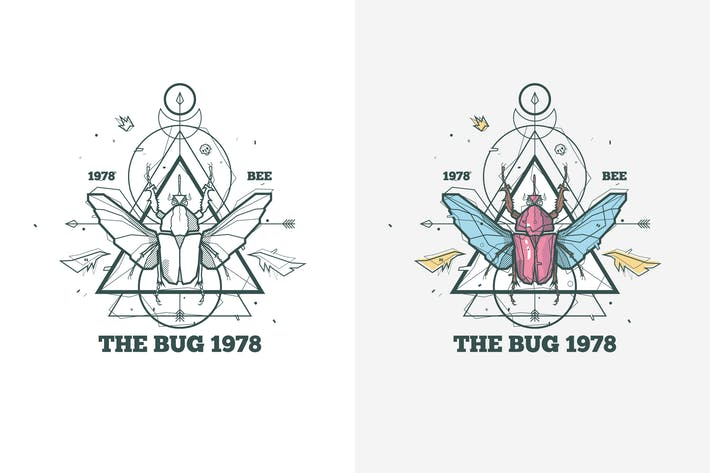 Thumbnail for insect bug illustration with sacred geometry