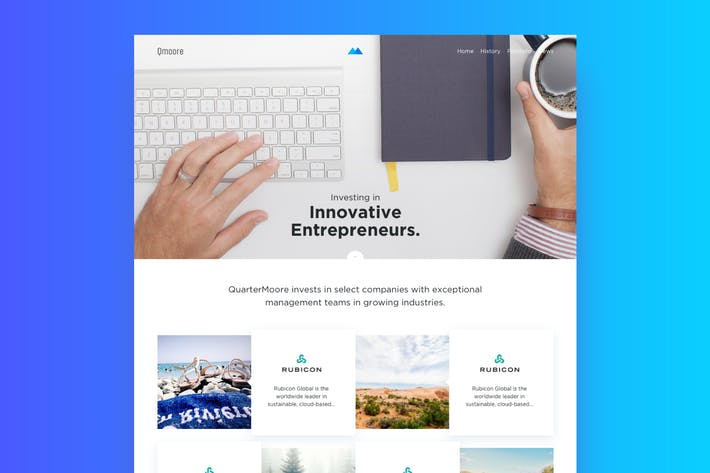 Thumbnail for Business Web Page Template