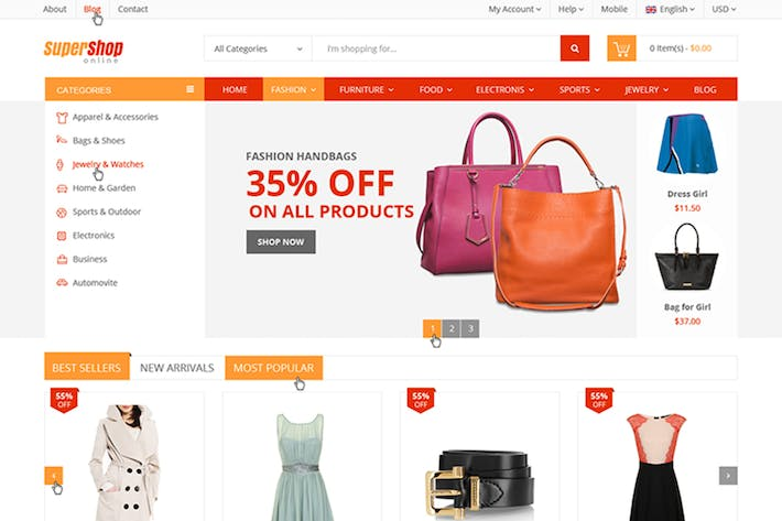 Thumbnail for Supershop - Responsive Magento Theme
