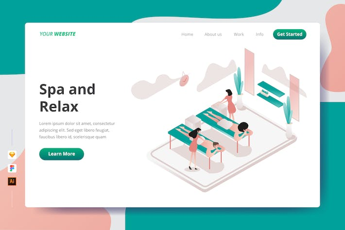 Spa and Relax - Landing Page