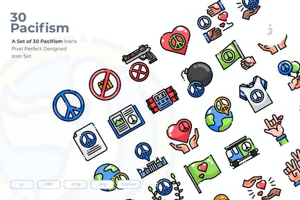 30 Pacifism Icons
