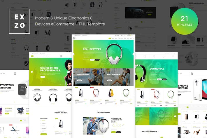Thumbnail for Exzo - Electronics eCommerce HTML Template
