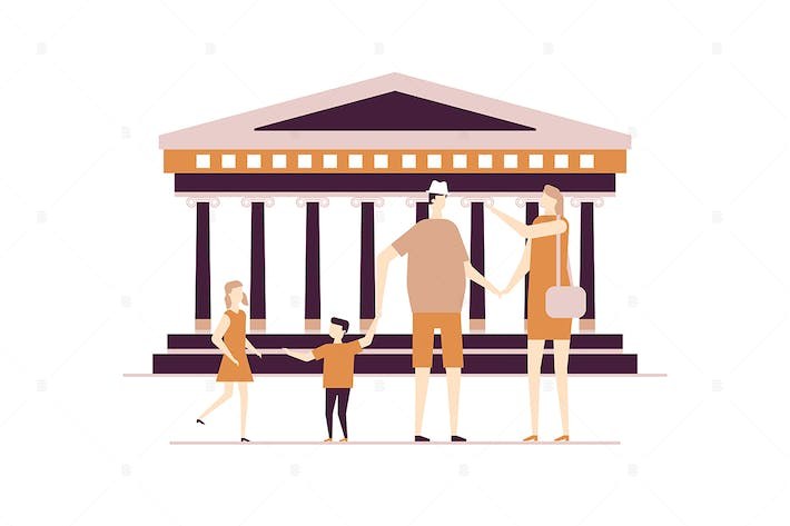 Thumbnail for Visit Greece - flat design style illustration