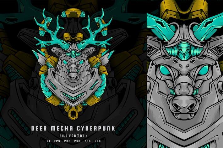 Ciervo Mecha Cyberpunk