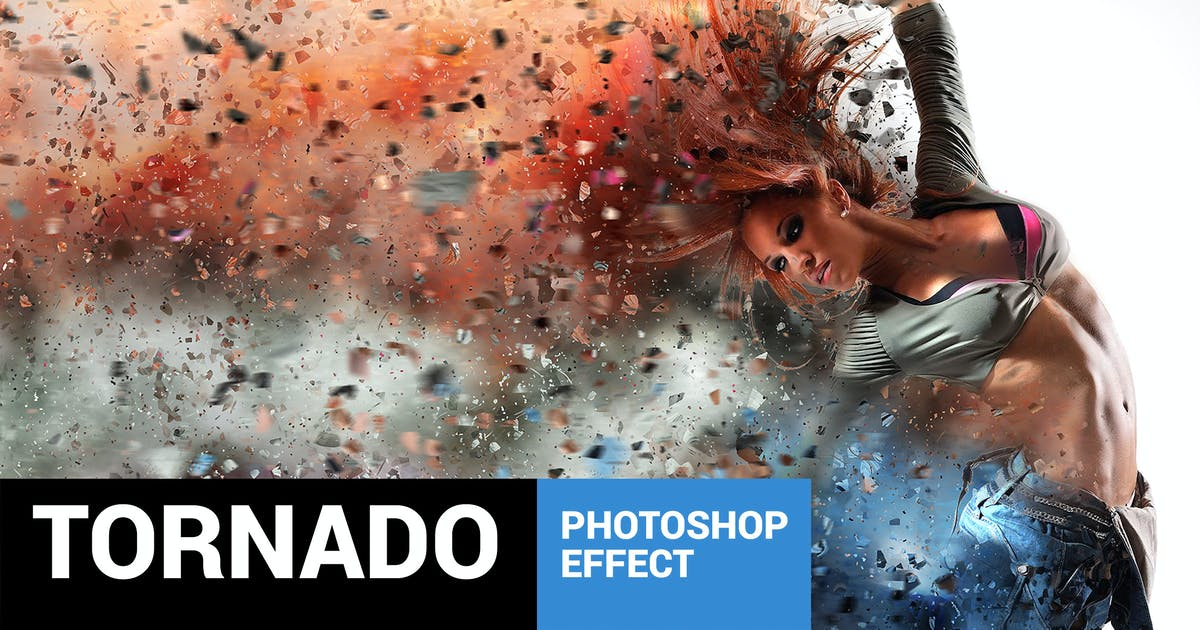 Download Tornadum - Powerful Dispersion Photoshop Action by profactions