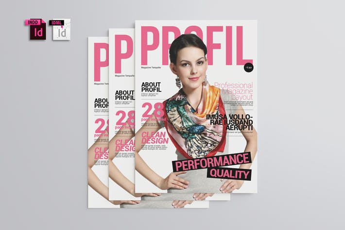 Thumbnail for Profil Magazine Template
