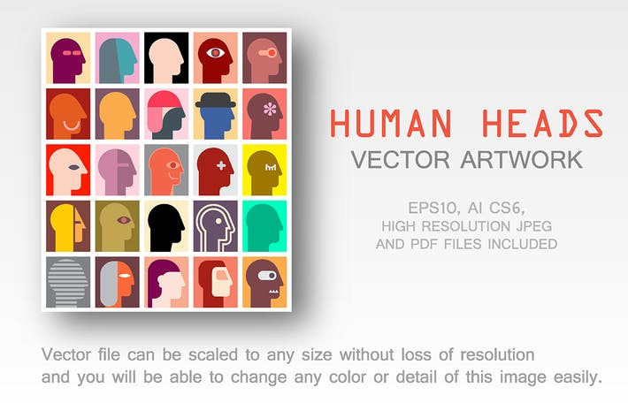 Thumbnail for Human Heads vector design