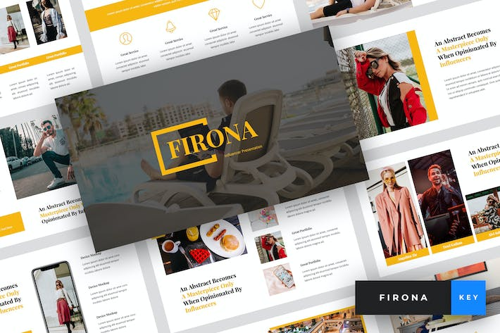 Thumbnail for Firona - Influencer Keynote Template