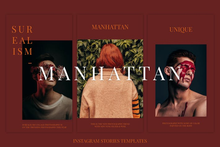 Manhattan Instagram Stories Templates