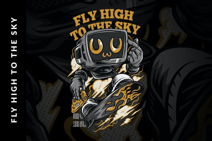 Thumbnail for Fly High to the Sky Design