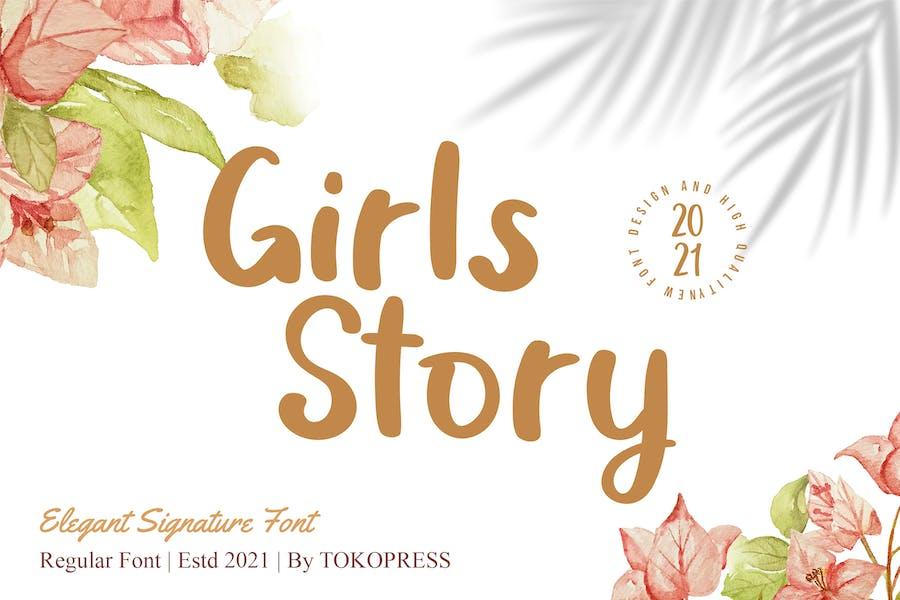 Girls Story - Fuente de escritura a mano de lujo