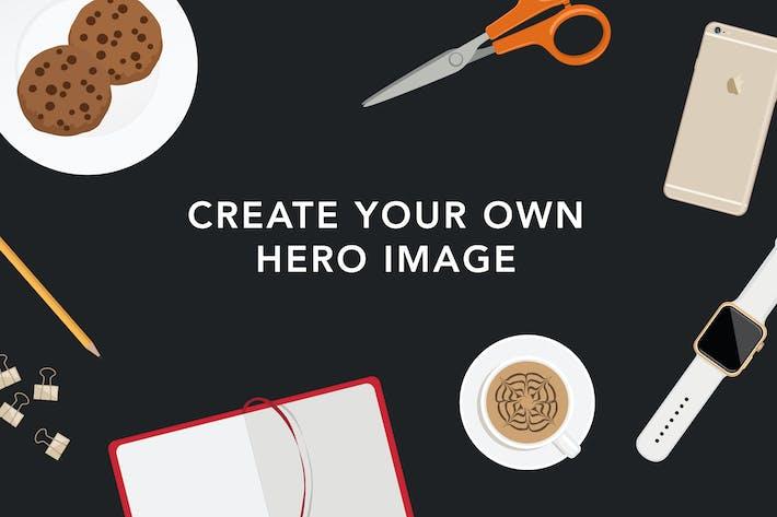 Thumbnail for Créateur de scène de bureau plat
