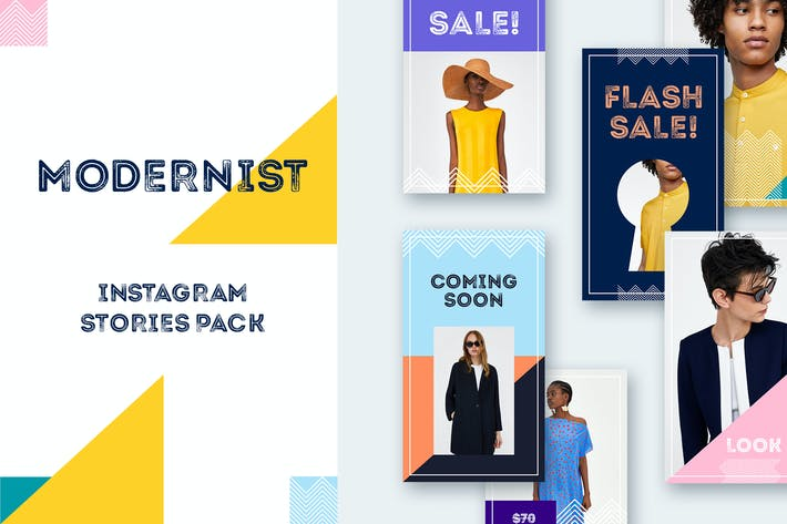 Thumbnail for Modernist Instagram Stories Pack
