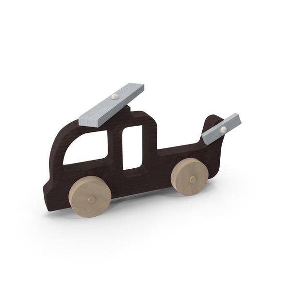 Baby Wooden Helicopter Car