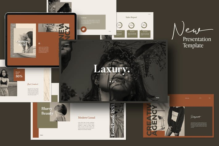Thumbnail for LAXURY - Lookbook Fashion Powerpoint Creative