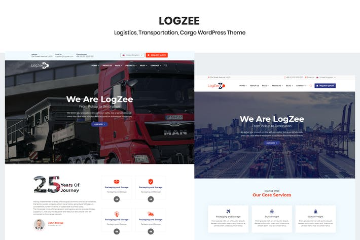 Thumbnail for Logzee - Logistics Cargo WordPress Theme