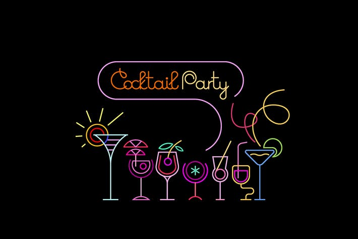 Thumbnail for Cocktail Party Neon Sign