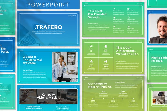 Thumbnail for Trafero - Business Powerpoint Template
