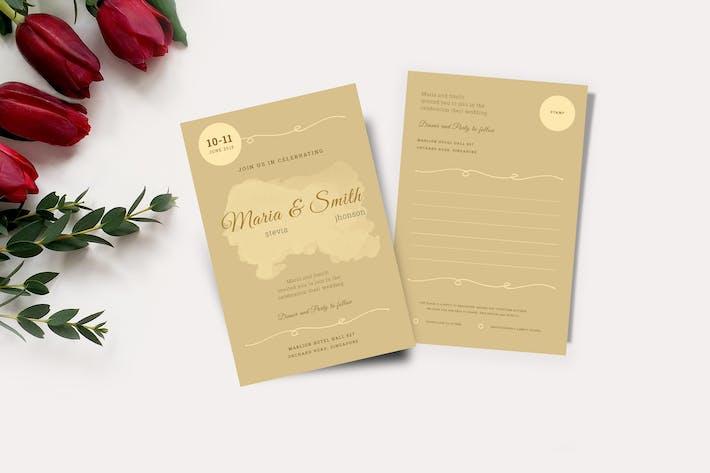 Thumbnail for Cartes d'invitation de mariage et RSVP