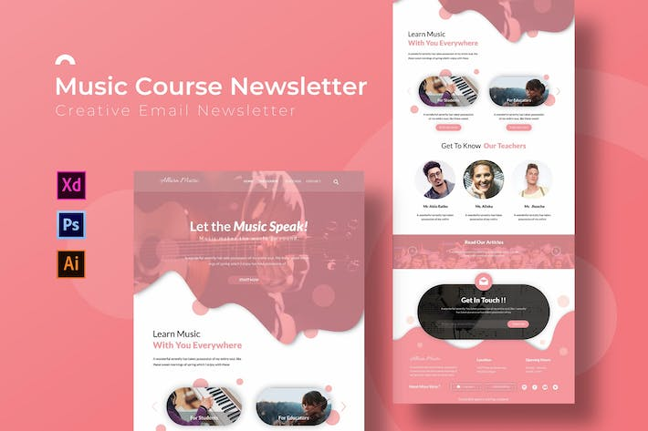 Thumbnail for Music Course | Newsletter Template