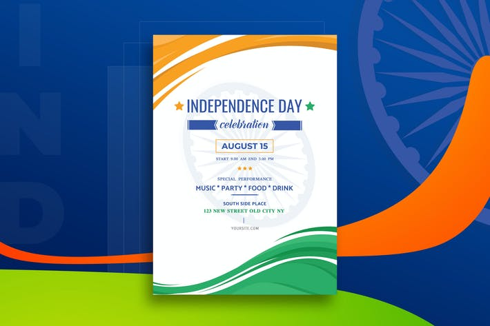 Thumbnail for India Independence Day Flyer