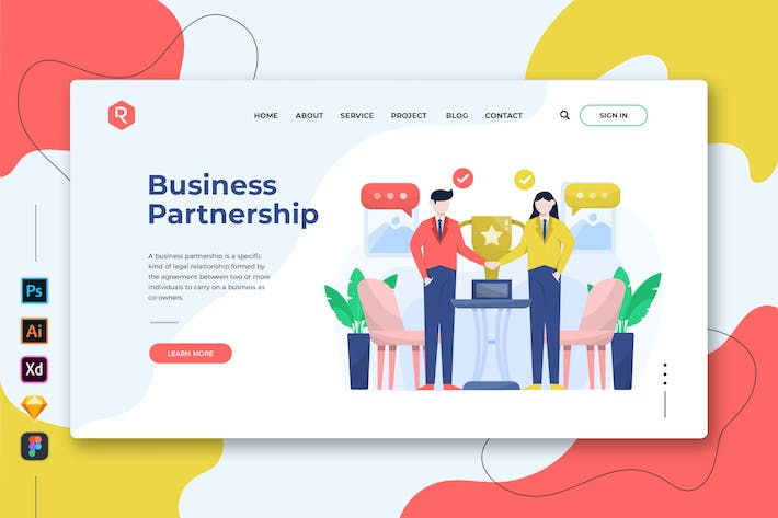 Thumbnail for Business Partnership - Web & Mobile Landing Page