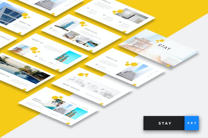 Thumbnail for Stay - Hotel Keynote Presentation Template