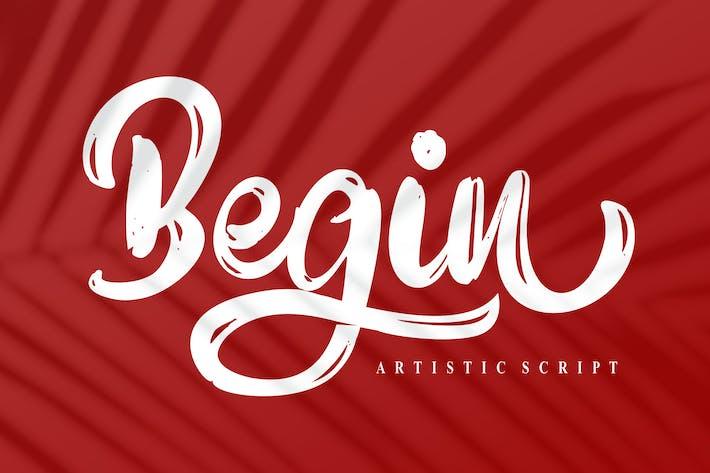 Begin Artistic Script