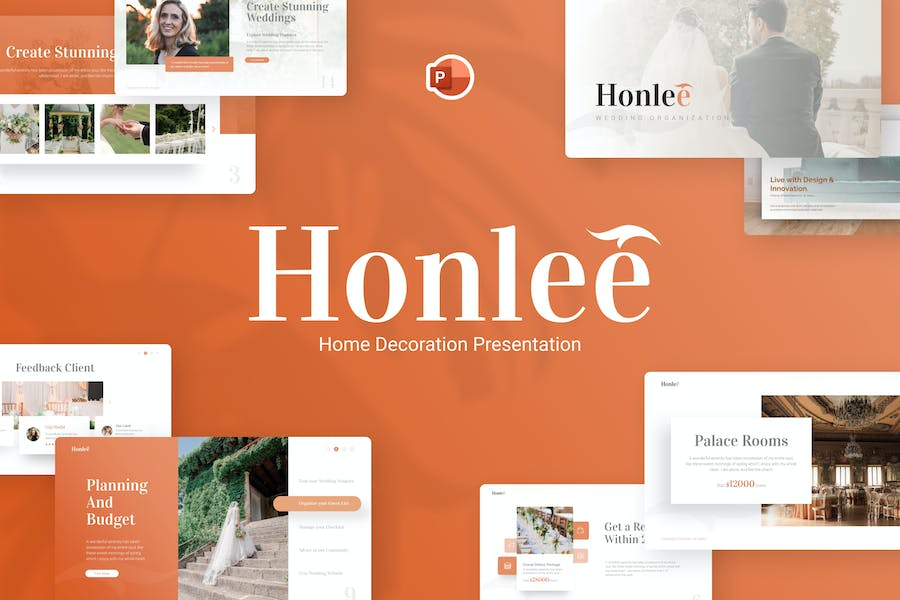 Honlee Home Decoration PowerPoint Template