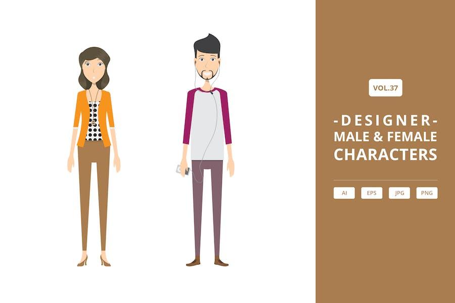 Designer - Männliche & Weibliche Charaktere Vol.37
