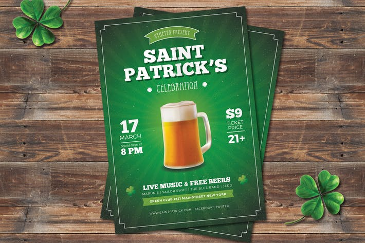 Cover Image For Saint Patrick Celebration Flyer