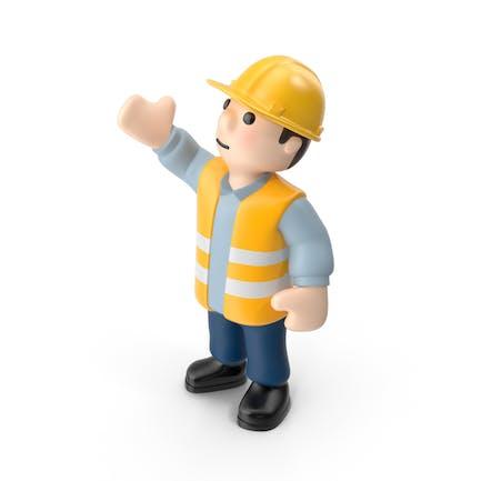 Arbeiter rechte Hand hoch