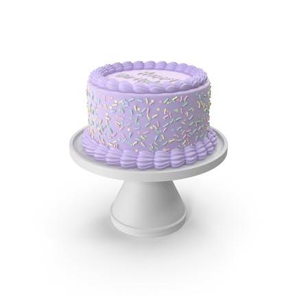 Lila Geburtstagskuchen
