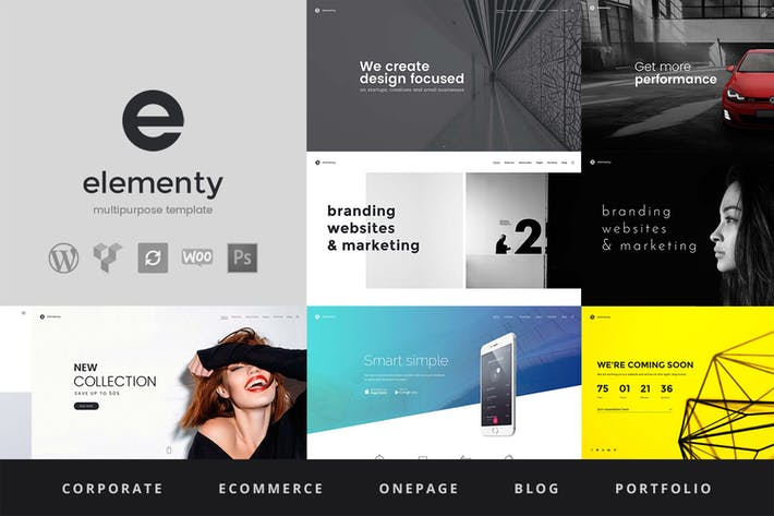 Thumbnail for Elementy - Multipurpose WordPress Theme