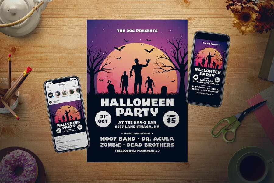 Halloween Flyer Set - product preview 0